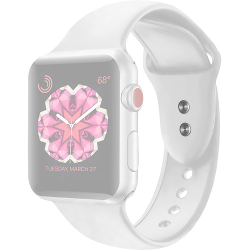 CASEPH Silicone Band for 42mm/44mm Apple Watch (White)