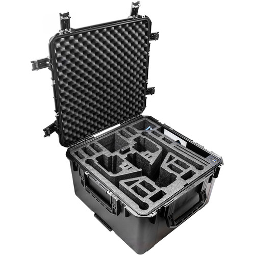 CasePro Wheeled Hard Case for DJI Inspire 2 Quadcopter in Landing Mode