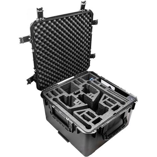 CasePro Wheeled Hard Case for DJI Inspire 2 Quadcopter in Landing Mode