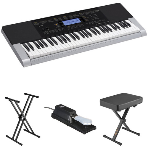 Casio CTK-4400 Kit with Stand, Pedal, and Bench