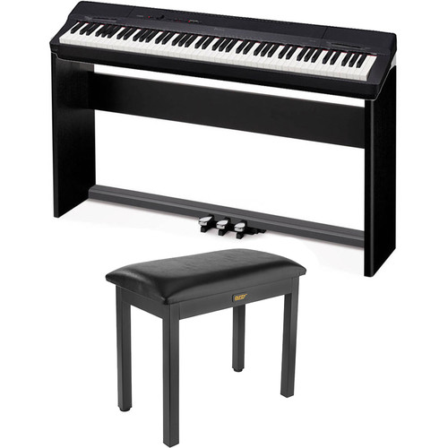 Casio PX-160 88-Key Digital Piano with Stand and Pedal Kit (Black)