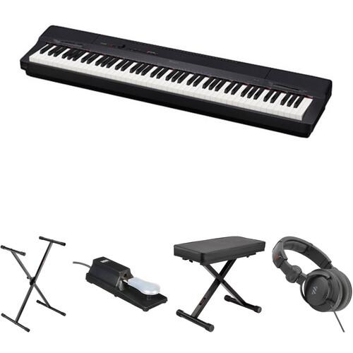 Casio PX-160 88-Key Digital Piano Essentials Bundle (Black)