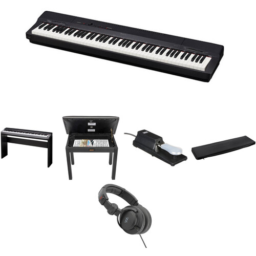 Casio PX-160 Digital Piano Home/Studio Essentials Bundle (Black)