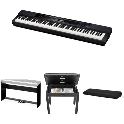 Casio PX-350 Privia 88-Key Digital Piano with Stand, Bench & Accessories (Black)