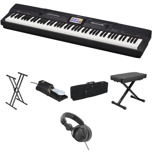 Casio PX-360 Portable Digital Piano Essentials Bundle