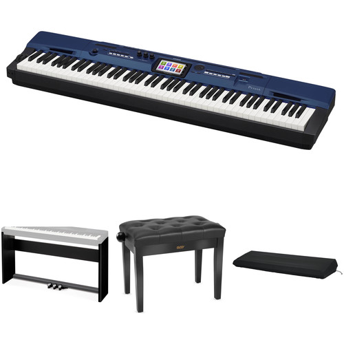 Casio PX-560 Privia 88-Key Digital Piano with Stand, Bench & Accessories (Black)