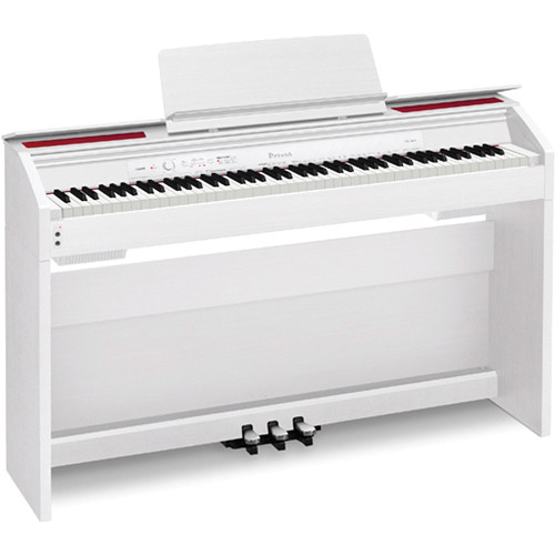 casio px 860 privia 88 key digital piano white px 860we b h. Black Bedroom Furniture Sets. Home Design Ideas