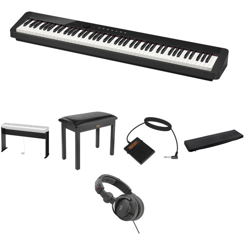 Casio PX-S1000 Digital Piano Standard Home Essentials Kit (Black)