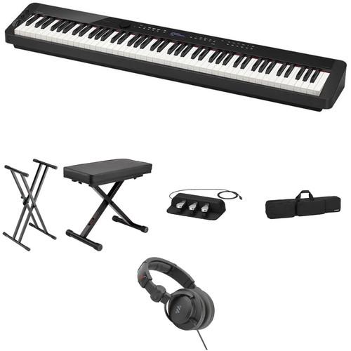 Casio PX-S3000 Digital Piano Essentials Stage Bundle Kit (Black)