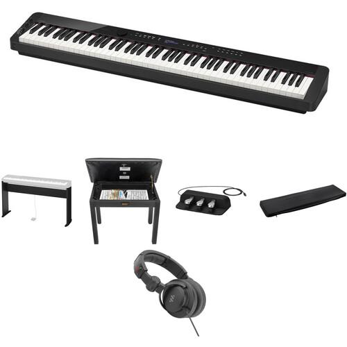 Casio PX-S3000 Digital Piano Standard Home Bundle Kit (Black)