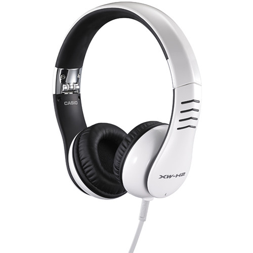 Casio XW-H2 On-The-Go Professional Tangle-Free Headphone (White)