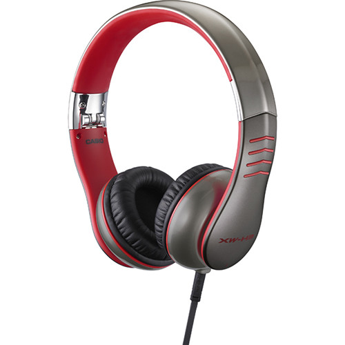 Casio XW-H3 On-The-Go Professional Tangle-Free Headphone (Red)