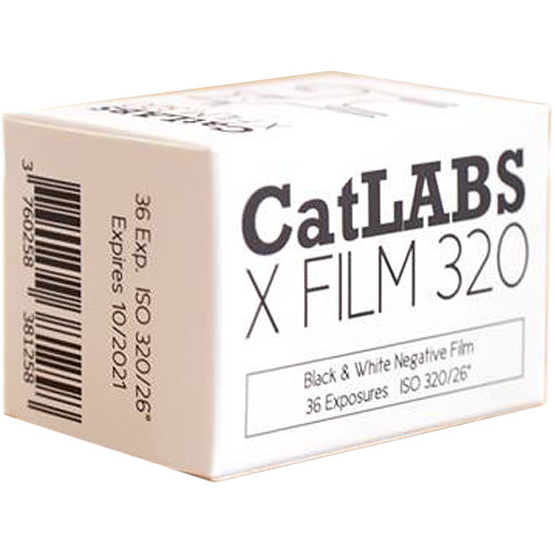 CatLABS X Film 320 Black and White Negative Film (35mm Roll Film, 36 Exposures)
