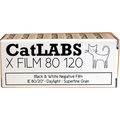 CatLABS X FILM ISO 80 (120) Black and white negative