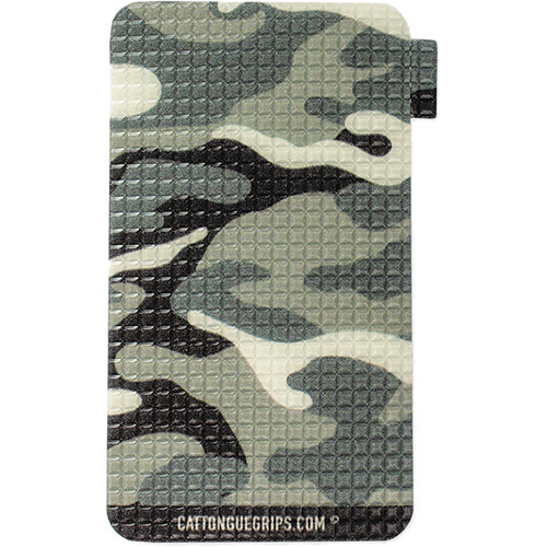 CatTongue Grips Smartphone Grip (Shades of Gray Camo, Small)