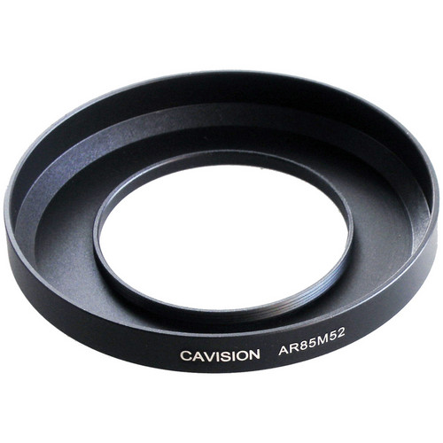 Cavision 85mm to 52mm Threaded Metal Deep Offset Step-Up Adapter Ring