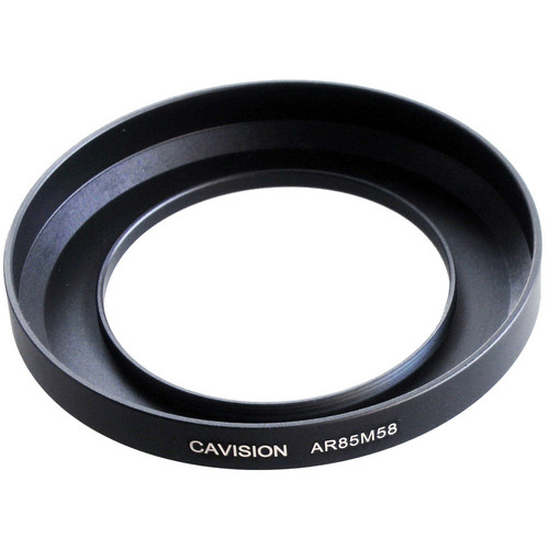 Cavision 85mm to 58mm Threaded Metal Deep Offset Step-Up Adapter Ring
