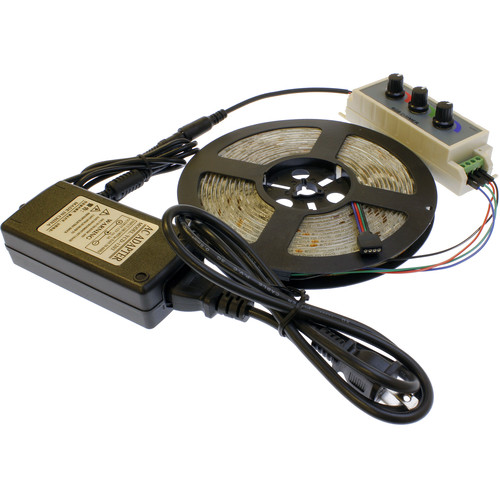 Cavision Color LED Strip and RGB Dimmer Package
