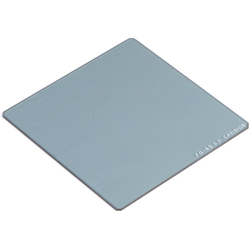 """Cavision 4 x 4"""" Enhanced Range Solid Neutral Density 0.3 Filter (1-Stop, 2mm-Thick)"""