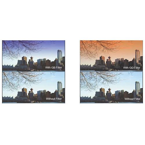 "Cavision 4 x 4"" Soft-Edge Graduated Blue 0.3 and Soft-Edge Graduated Orange 0.3 Filter Kit (4mm Thick)"