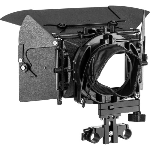 Cavision 3 x 3 Swing-Away Matte Box Package with 15mm Bracket for DSLR Cameras