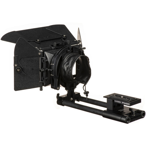 "Cavision 3x3"" Matte Box Kit with 15mm LWS Rod System, Metal Trays, Flaps & Donut"