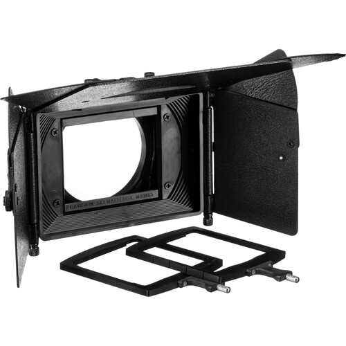 Cavision 3x3 Matte Box Kit with Metal Trays, Flaps & 80mm Step-Up Ring