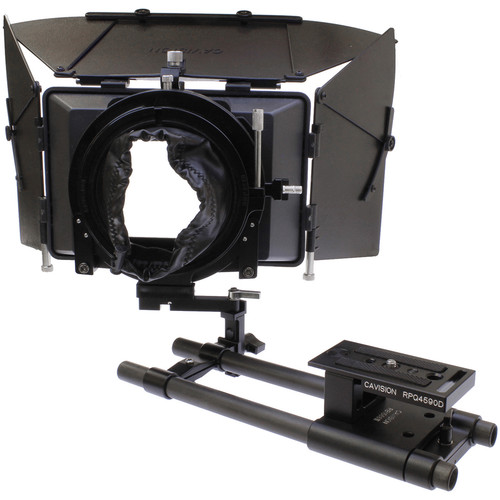 Cavision 4x5.65 Matte Box Package with 15mm Swing-Away Rod System for DSLR