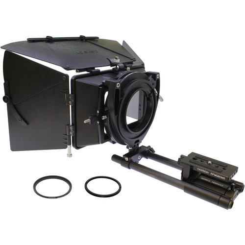 """Cavision 4 x 5.65"""" Matte Box Kit with Dual-Rod QR System for PXW-190/Z280 Sony Cameras"""
