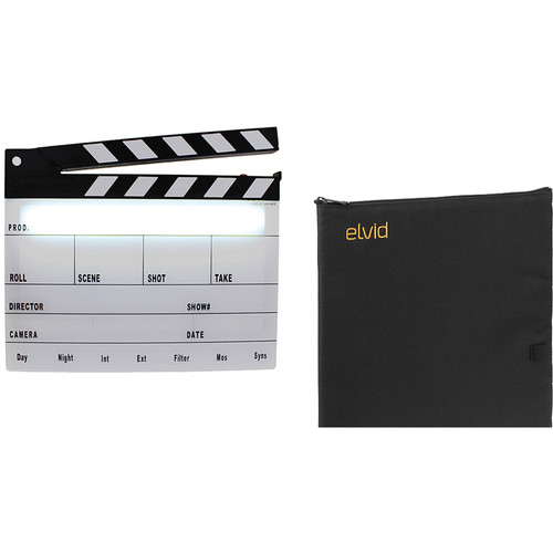 Cavision Next-Generation Black & White Clapper Slate with LED Light and Soft Case Kit
