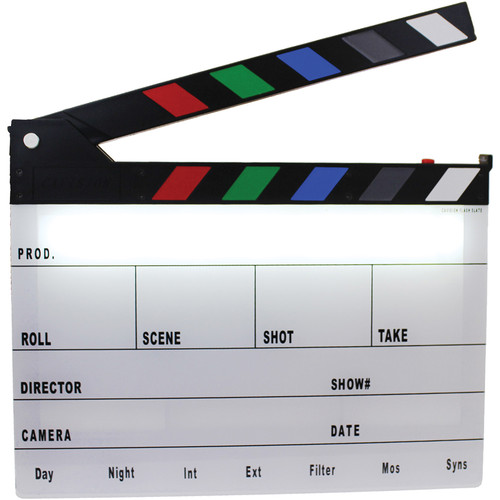 Cavision Next-Generation Color Clapper Slate with LED Light and Soft Case Kit