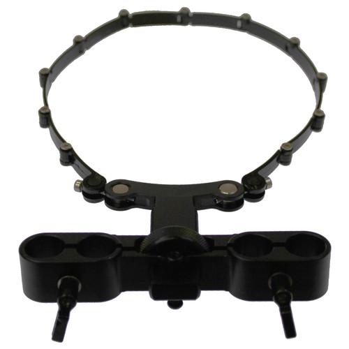 Cavision Lens Support with Trimmer Knob & Adjustable ABS Belt for 15mm Rods