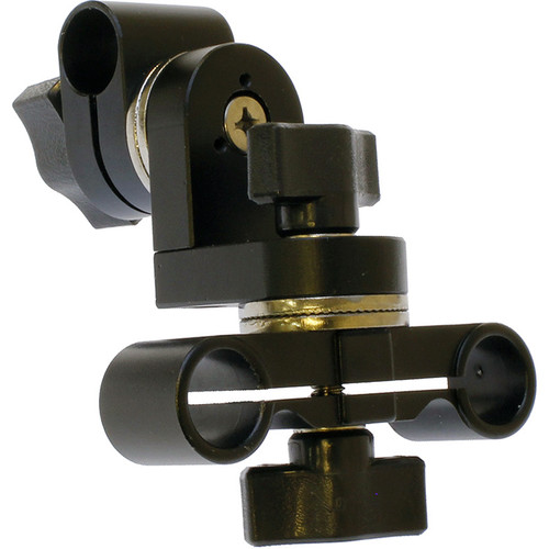 Cavision Dual to Single 15mm Rod Connector with Tilt & Swivel Adjustment