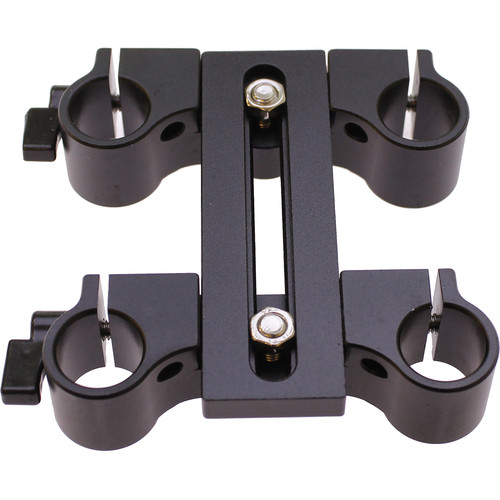 "Cavision Dual Vertical Offset Bracket for 15mm Rods (3.1"" T-Part Height)"