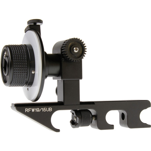 Cavision Basic Mini Follow Focus with Gear for Canon Video Lenses (19mm Rods)