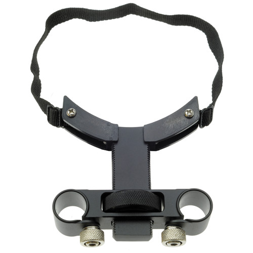 Cavision Lens Support with Trimmer Knob & Strap for 15mm Rods