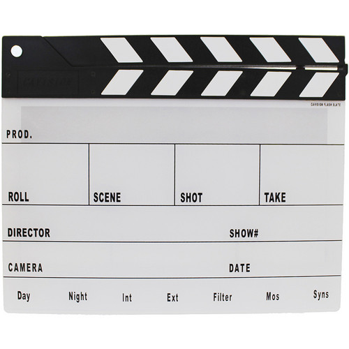 Cavision Next-Generation Slate with Black & White Clap Sticks
