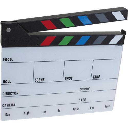 Cavision Next-Generation Slate with Color Clap Sticks