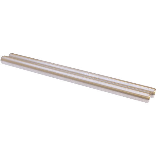 Cavision Pair of Lightweight Aluminum Rods:15mm Diameter,25cm Long Each (Not Anodized)