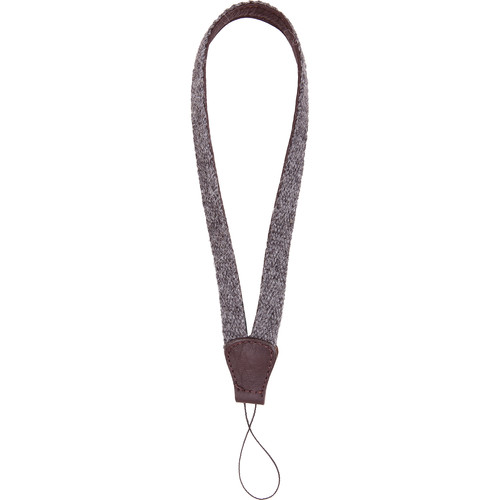 Cecilia Gallery Alpaca Wool & Leather Camera Wrist Strap with Cord Tethering (Charcoal + Brown)