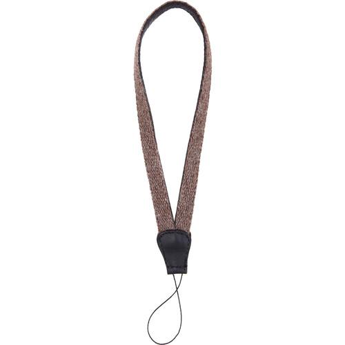 Cecilia Gallery Alpaca Wool & Leather Camera Wrist Strap with Cord Tethering (Walnut + Black)