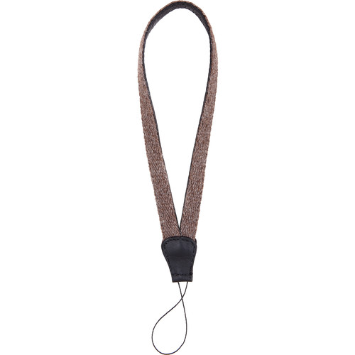 Cecilia Gallery Alpaca Wool & Leather Camera Wrist Strap with Cord Tethering (Walnut + Black)