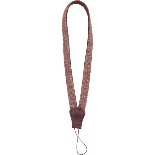 Cecilia Gallery Alpaca Wool & Leather Camera Wrist Strap with Cord Tethering (Walnut + Brown)