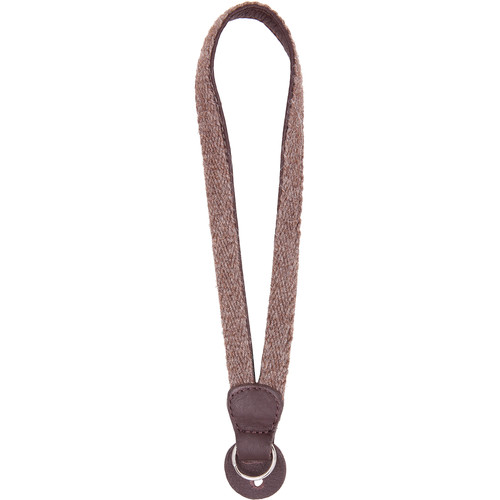 Cecilia Gallery Alpaca Wool & Leather Camera Wrist Strap with Ring Tethering (Walnut + Brown)