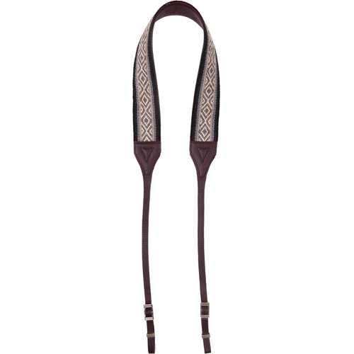 Cecilia Gallery Alpaca Wool Camera Strap (Kuti Nawi/Brown Leather)