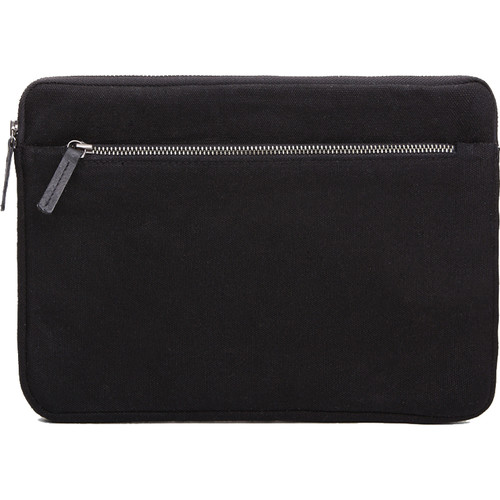 Cecilia Gallery Waxed Cotton Sleeve for iPad 2 (Black)