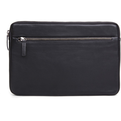 """Cecilia Gallery Montana Leather Sleeve for 11"""" MacBook (Black)"""