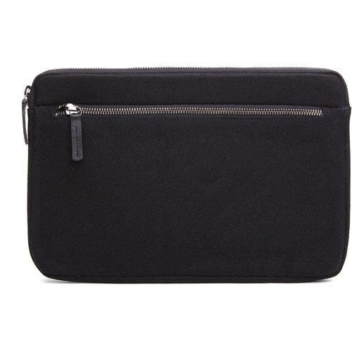 "Cecilia Gallery Waxed Cotton Sleeve for 11"" MacBook (Black)"