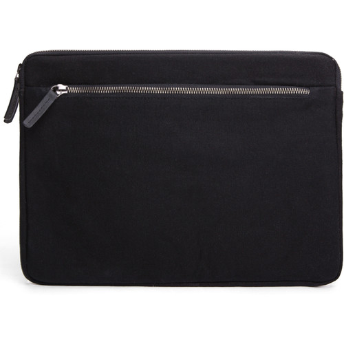 "Cecilia Gallery Waxed Cotton Sleeve for 13"" MacBook Pro (Black)"