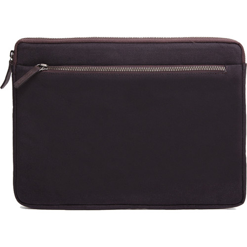 "Cecilia Gallery Waxed Cotton Sleeve for 13"" MacBook Pro (Espresso)"